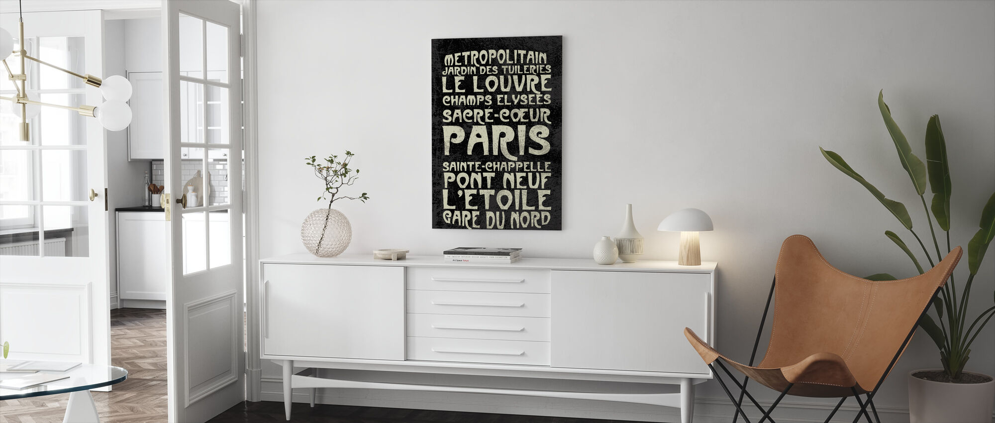 Paris Sign - Canvas print - Living Room