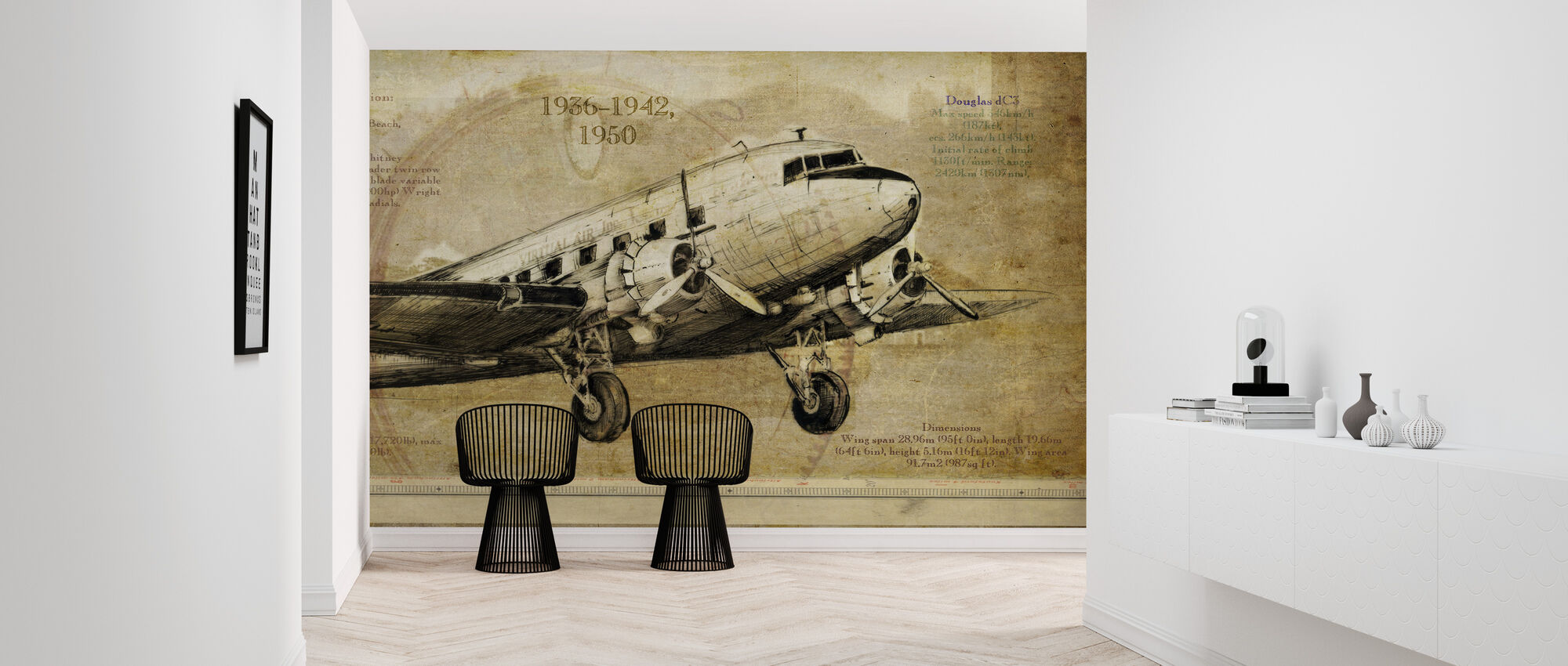 Airplane - Wallpaper - Hallway