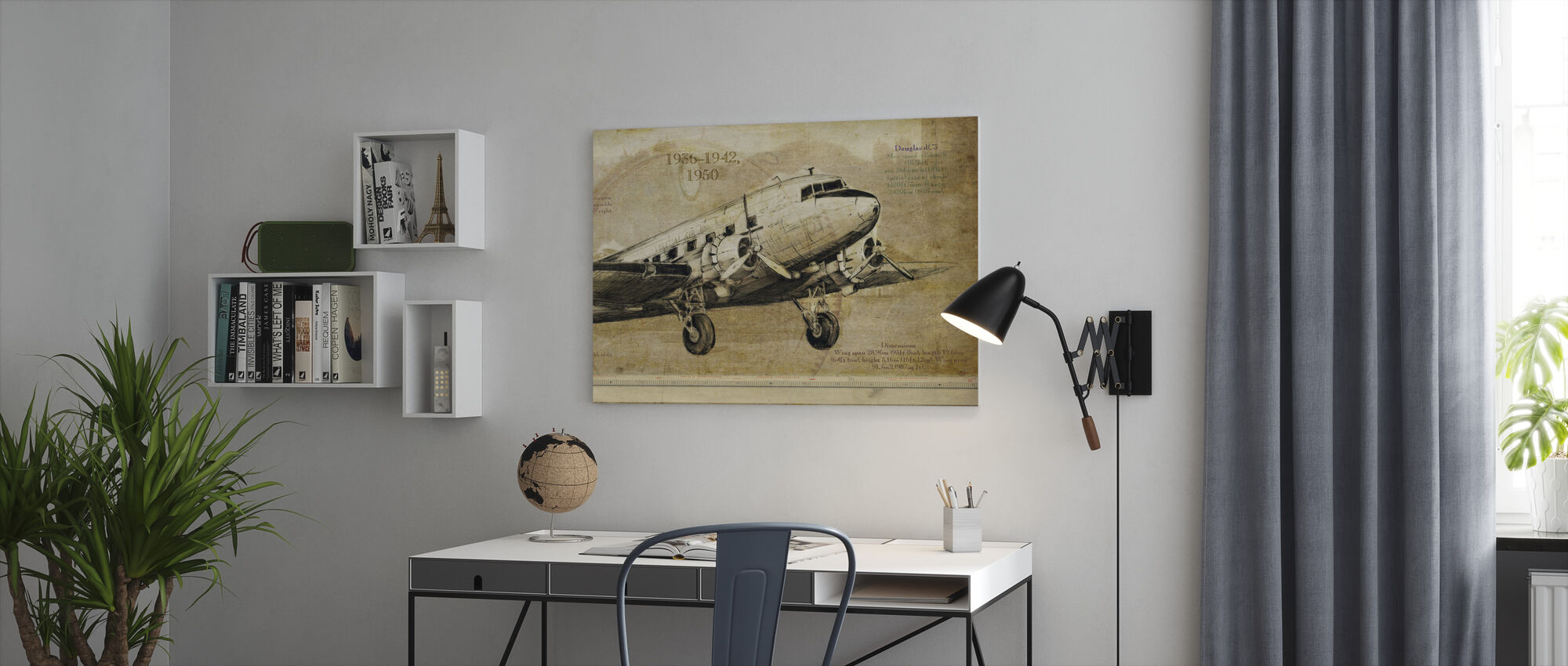 Airplane - Canvas print - Office