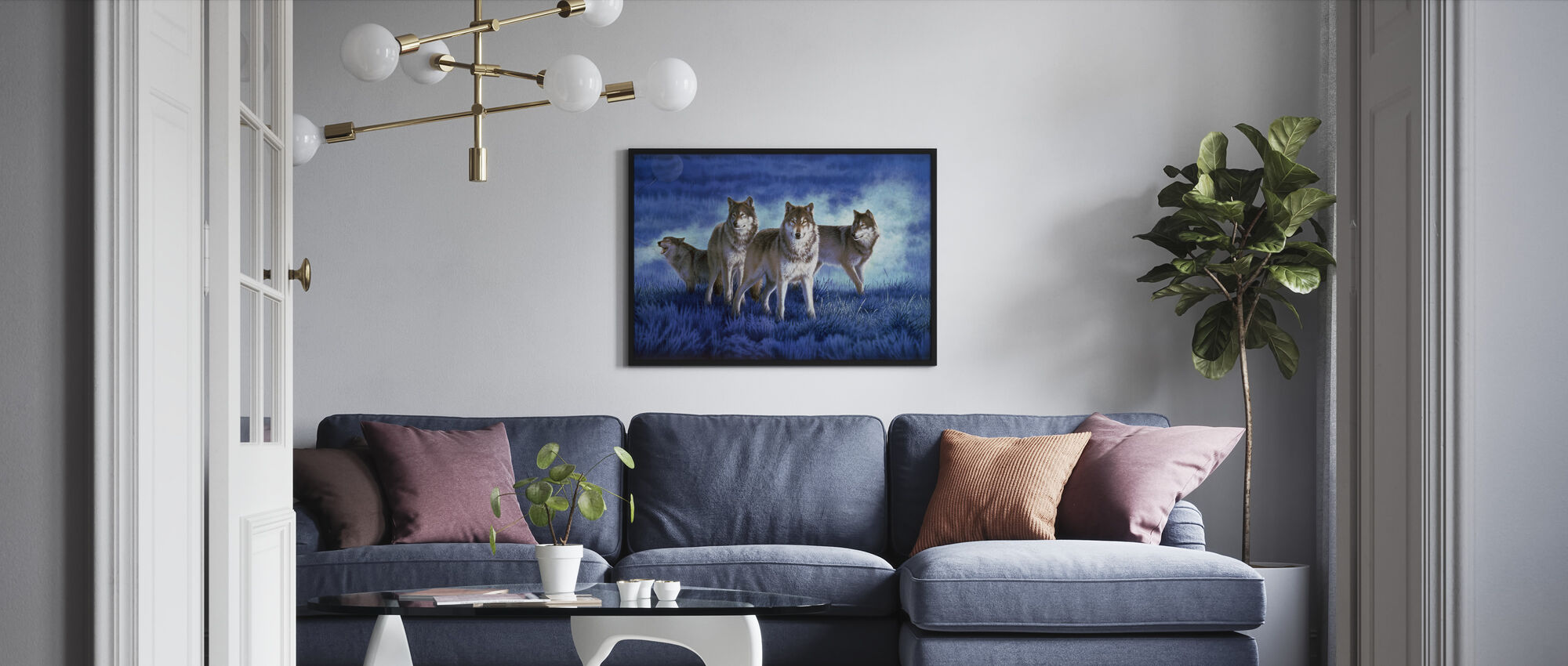 Wolves - Framed print - Living Room