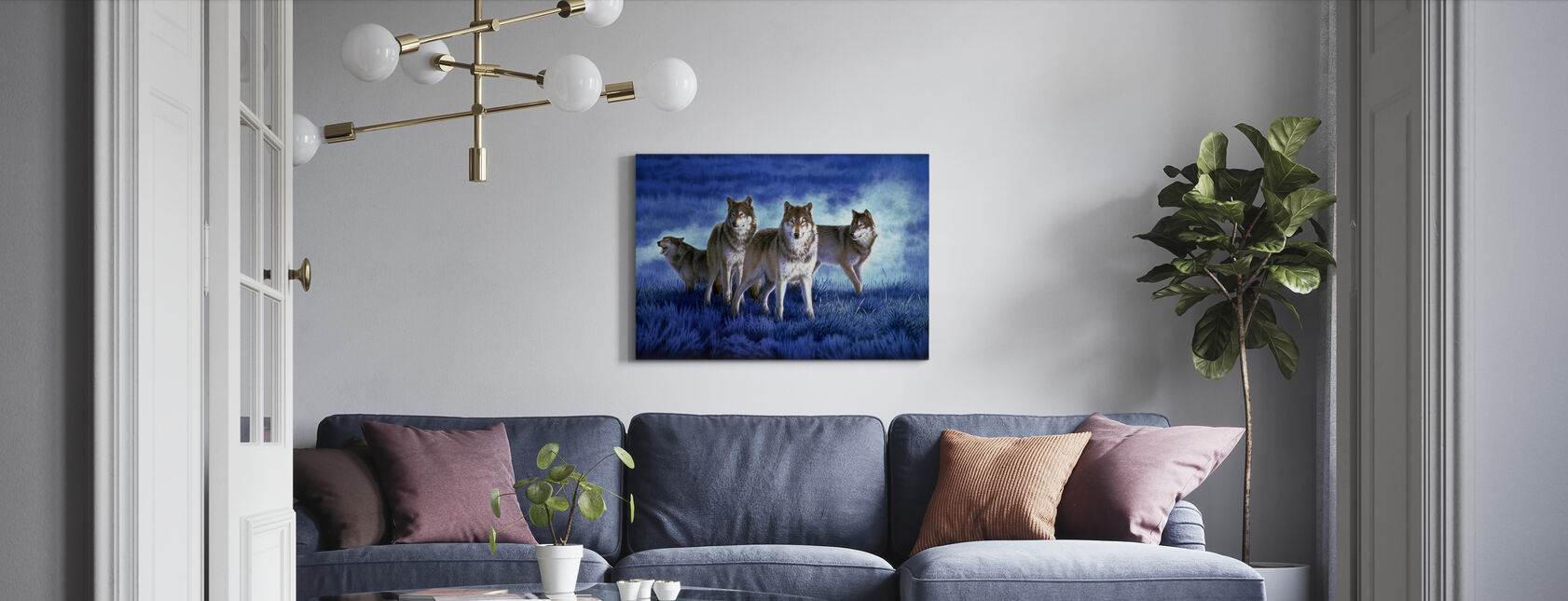 Wolves - Canvas print - Living Room