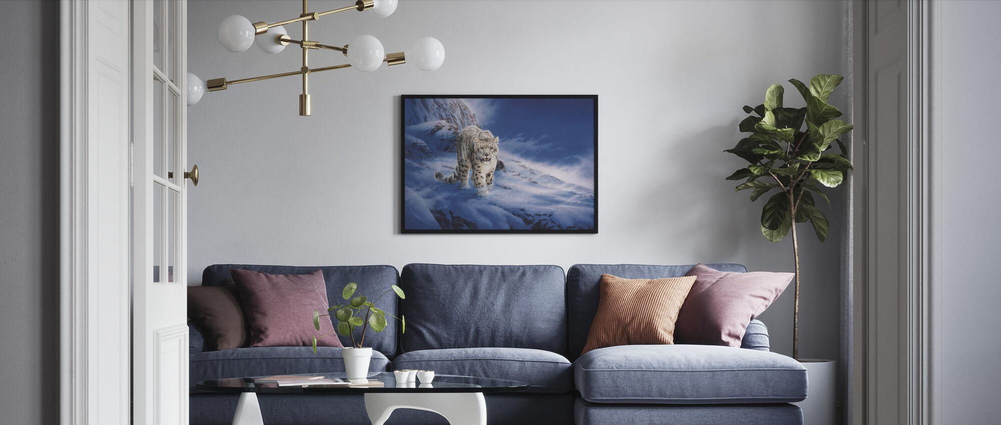 Snow Leopard - Framed print - Living Room