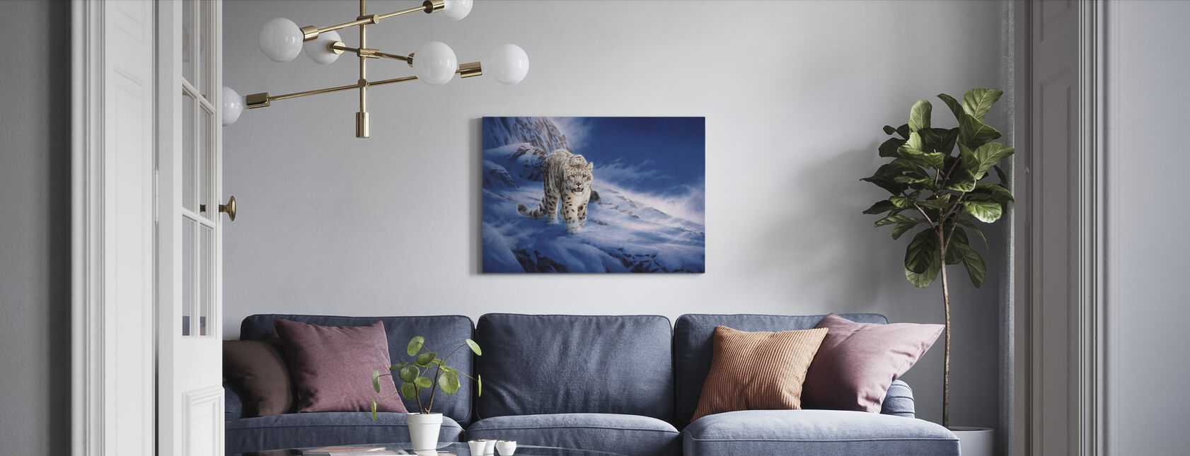 Snow Leopard - Canvas print - Living Room