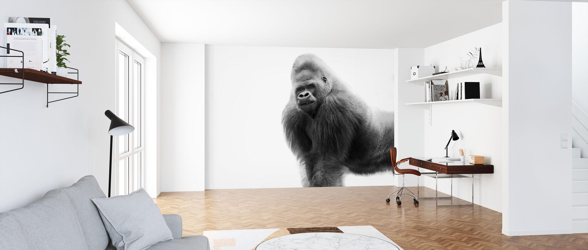 Ein Gorilla - Tapete - Büro