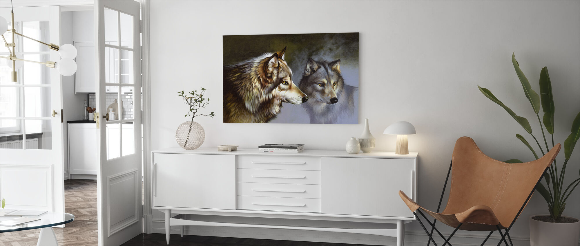 Frost Wolves - Canvas print - Living Room