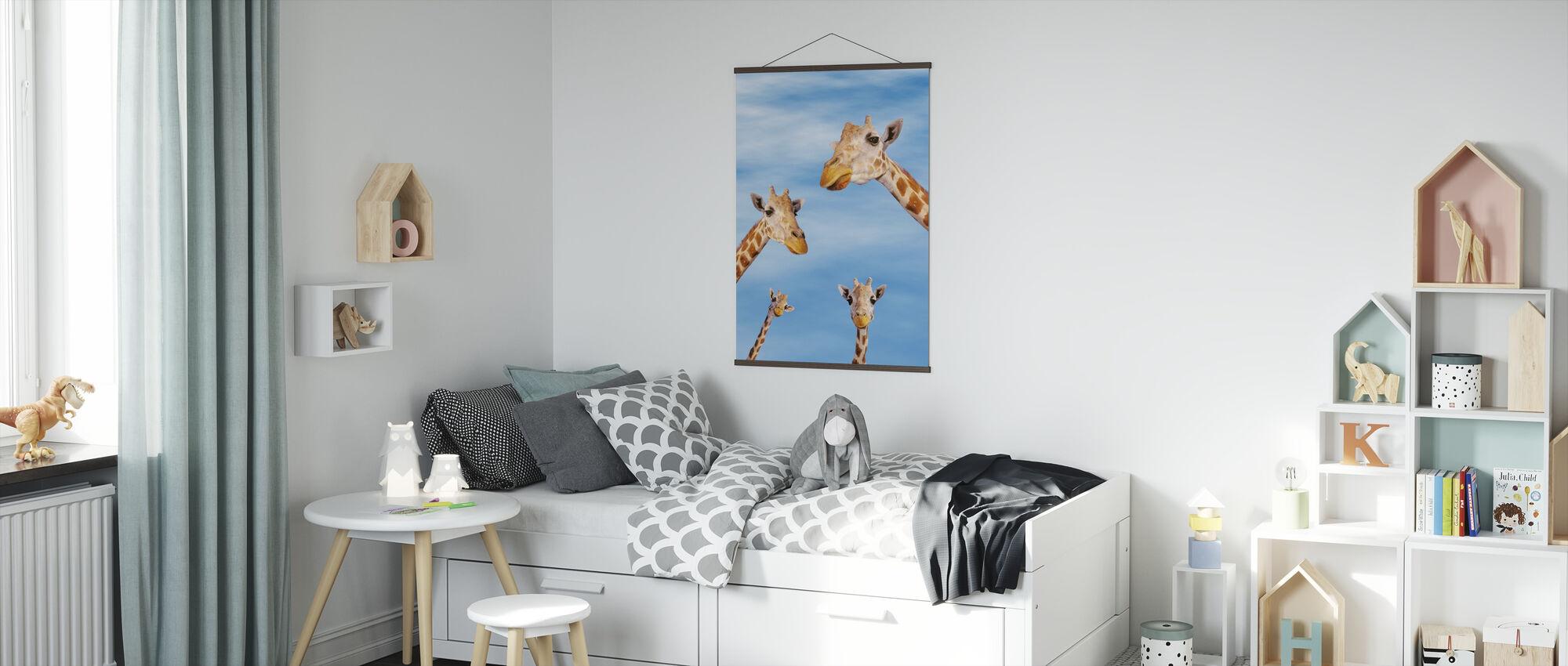Giraffes & Blue Sky - Poster - Kids Room