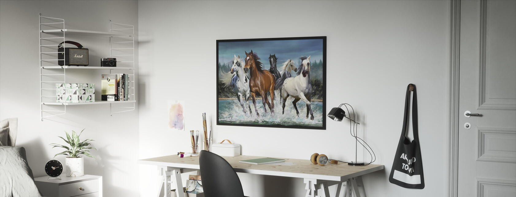 Running Horses - Framed print - Kids Room