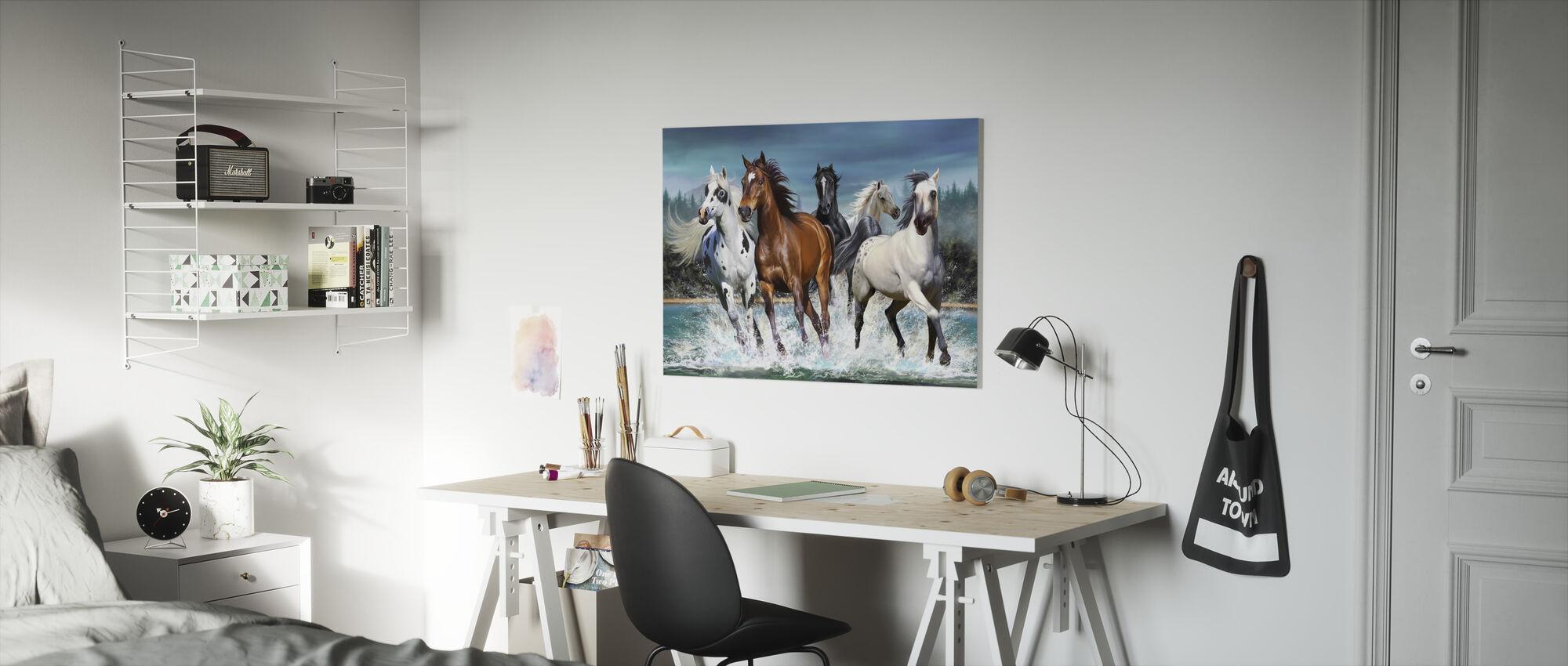 Running Horses - Canvas print - Kids Room
