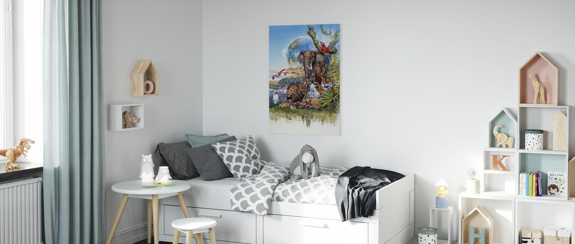 Peace on Earth - Canvas print - Kids Room