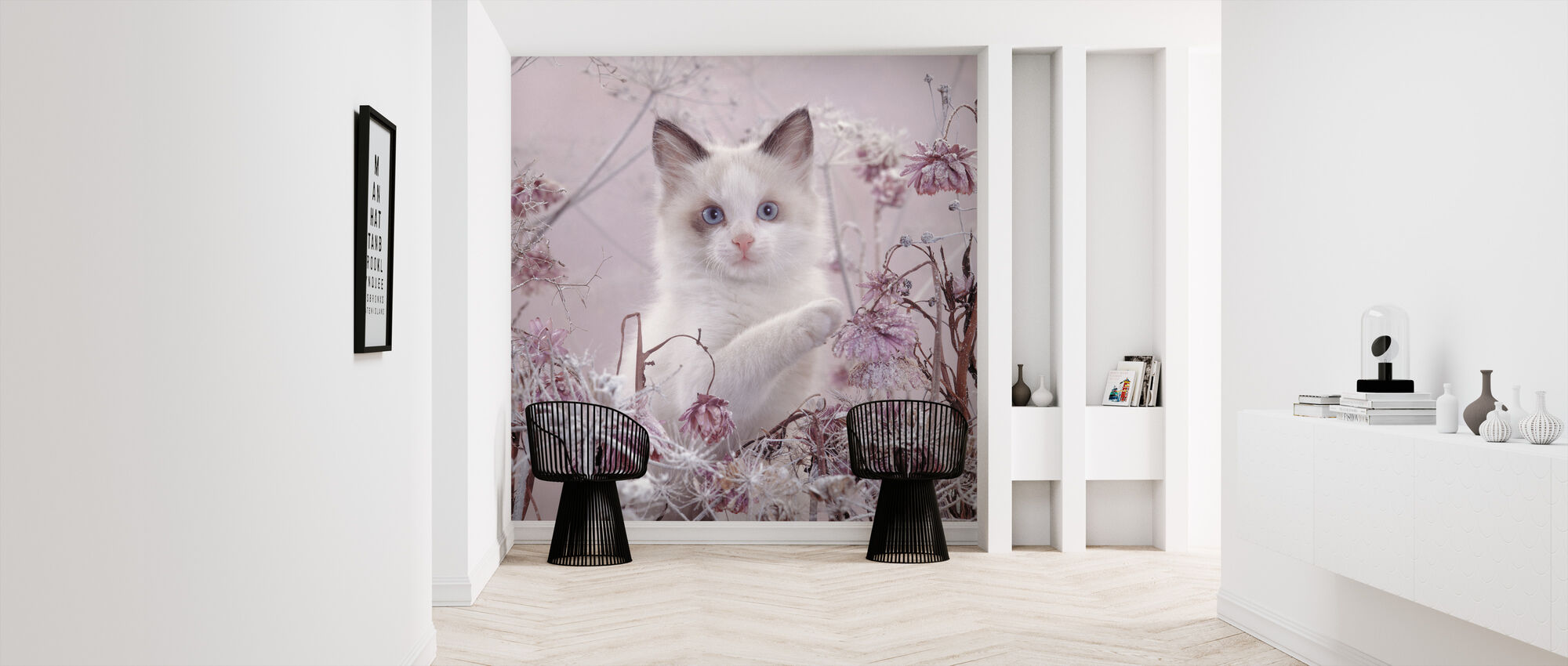 Pink Cat - Wallpaper - Hallway