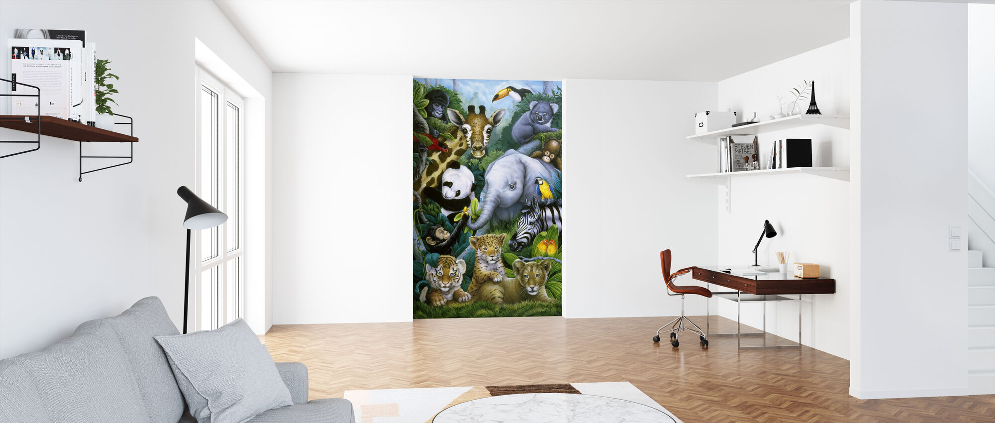 Jungle Animals - Wallpaper - Office