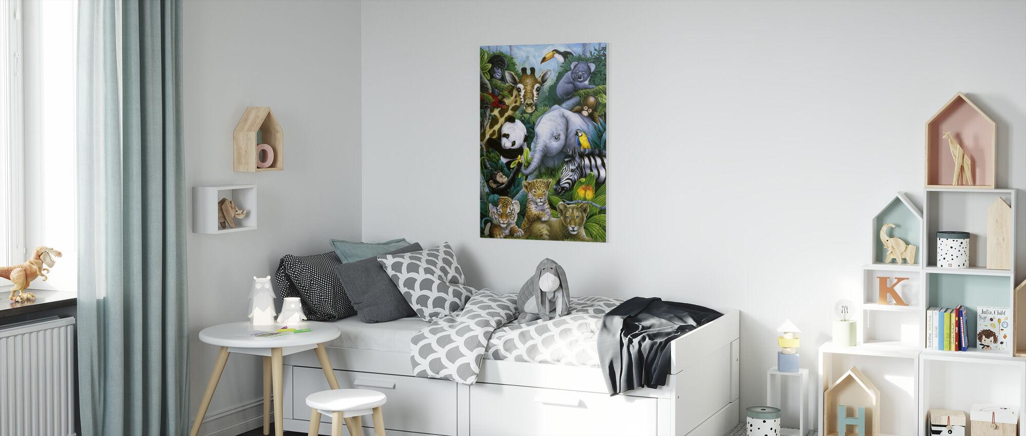 Jungle Animals - Canvas print - Kids Room