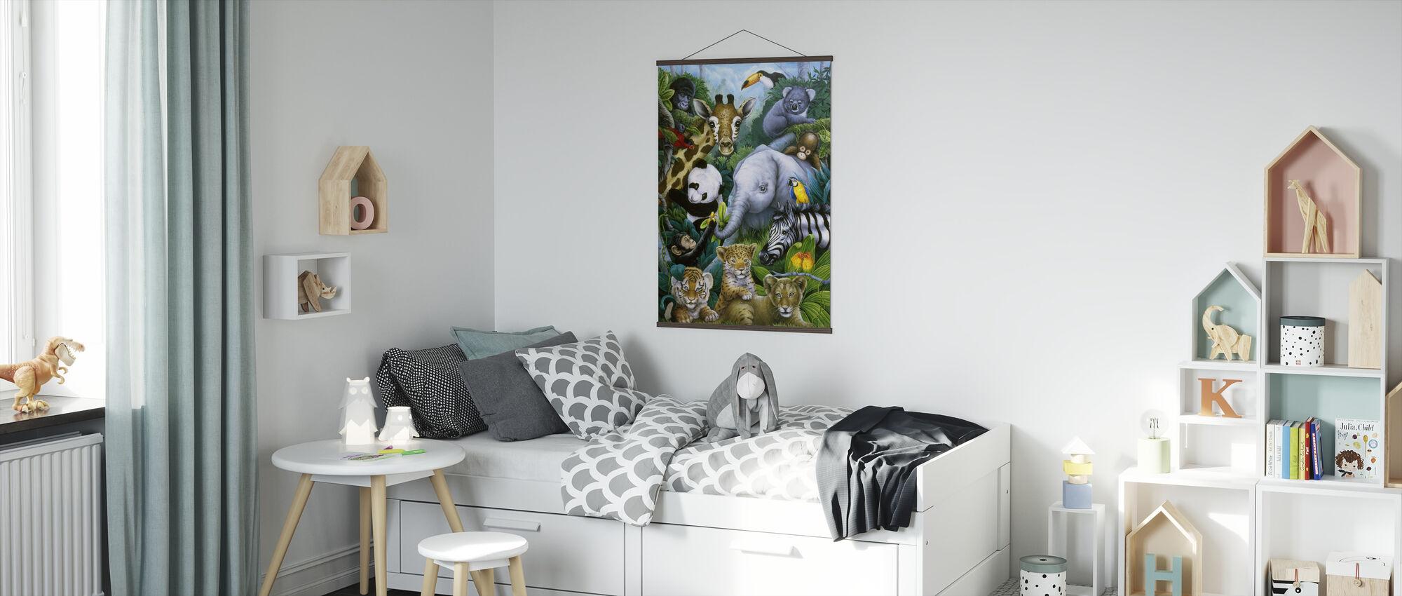 Jungle Animals - Poster - Kids Room