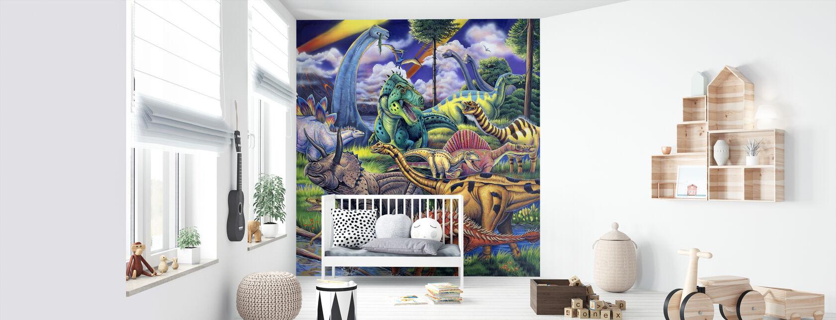 Dinosaur Friends - Wallpaper - Nursery