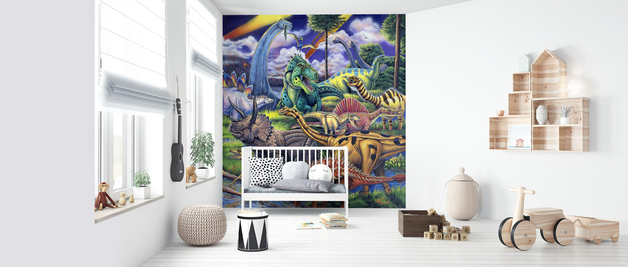 Dinosaur Friends - Wallpaper - Nursery
