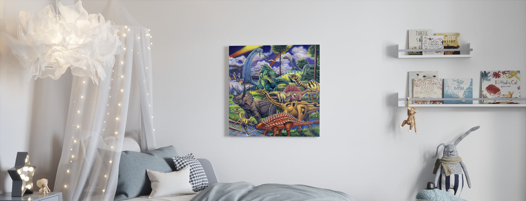 Dinosaur Friends - Canvas print - Kids Room
