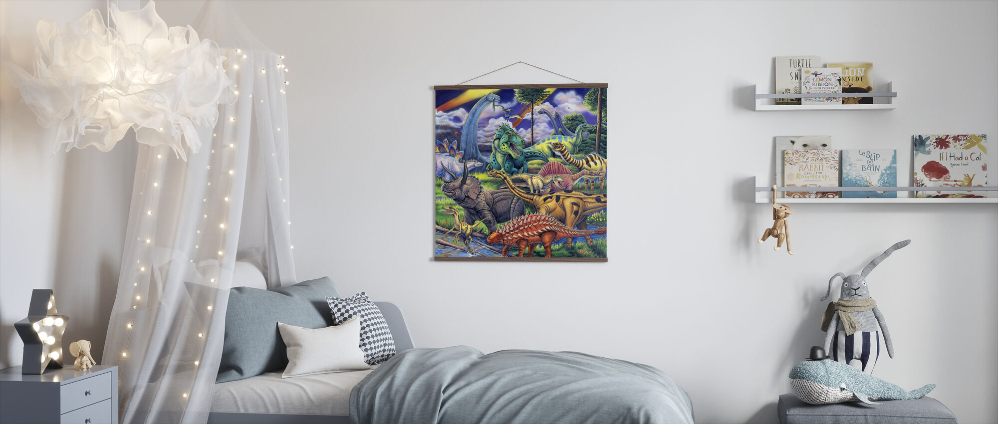 Dinosaur Friends - Poster - Kids Room