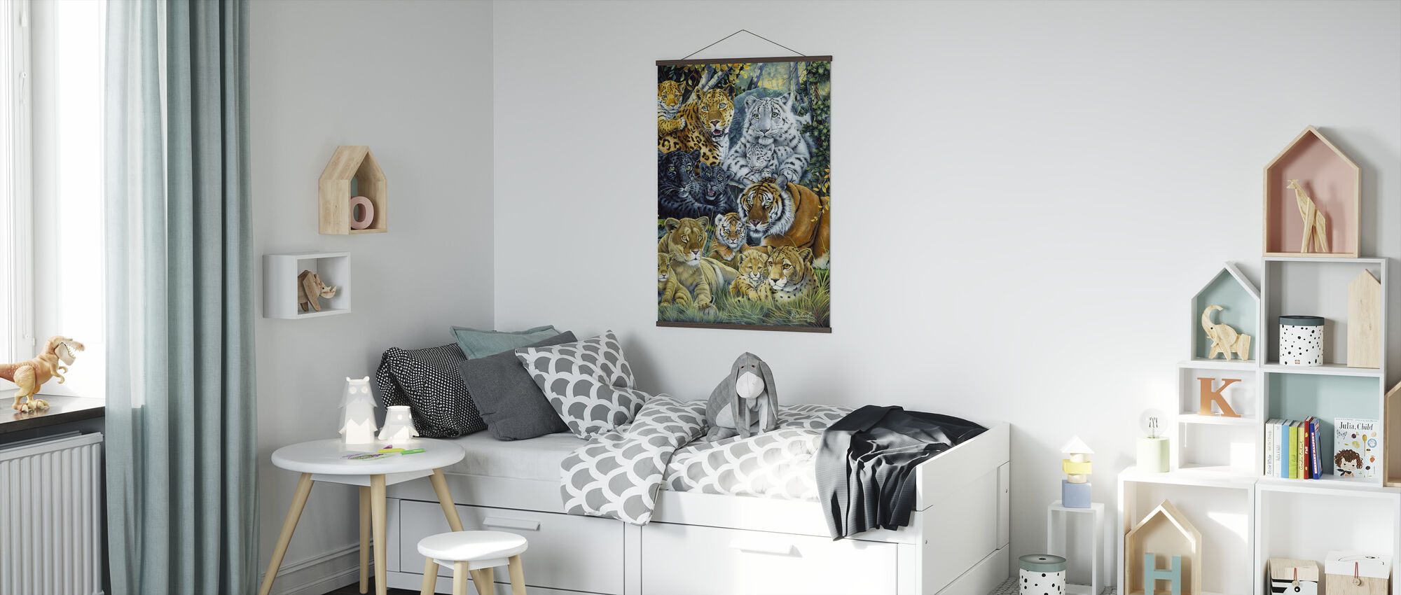 Wild Cats - Poster - Kids Room