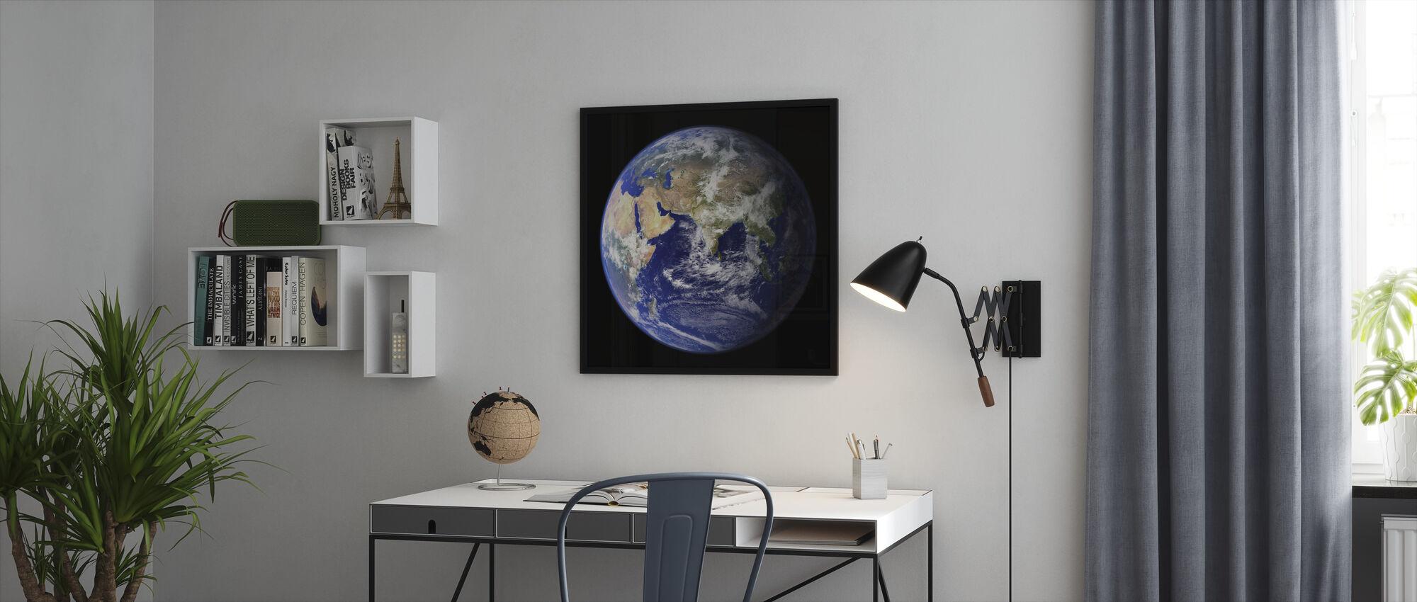 Aarde - Ingelijste print - Kantoor