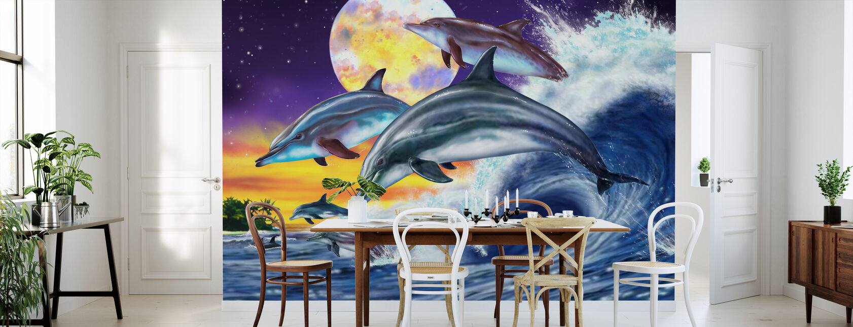 Dolphins - Wallpaper - Kitchen