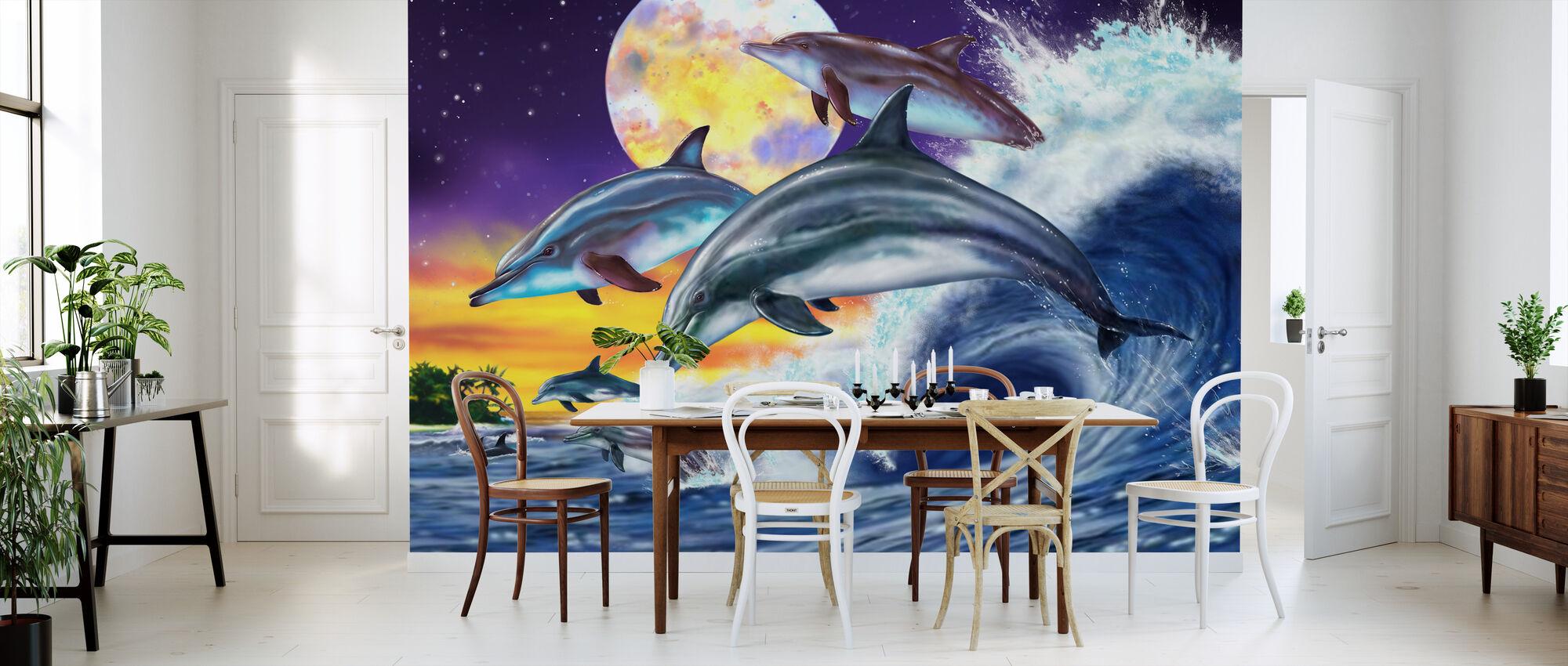 Dolphins - Wallpaper - Kitchen