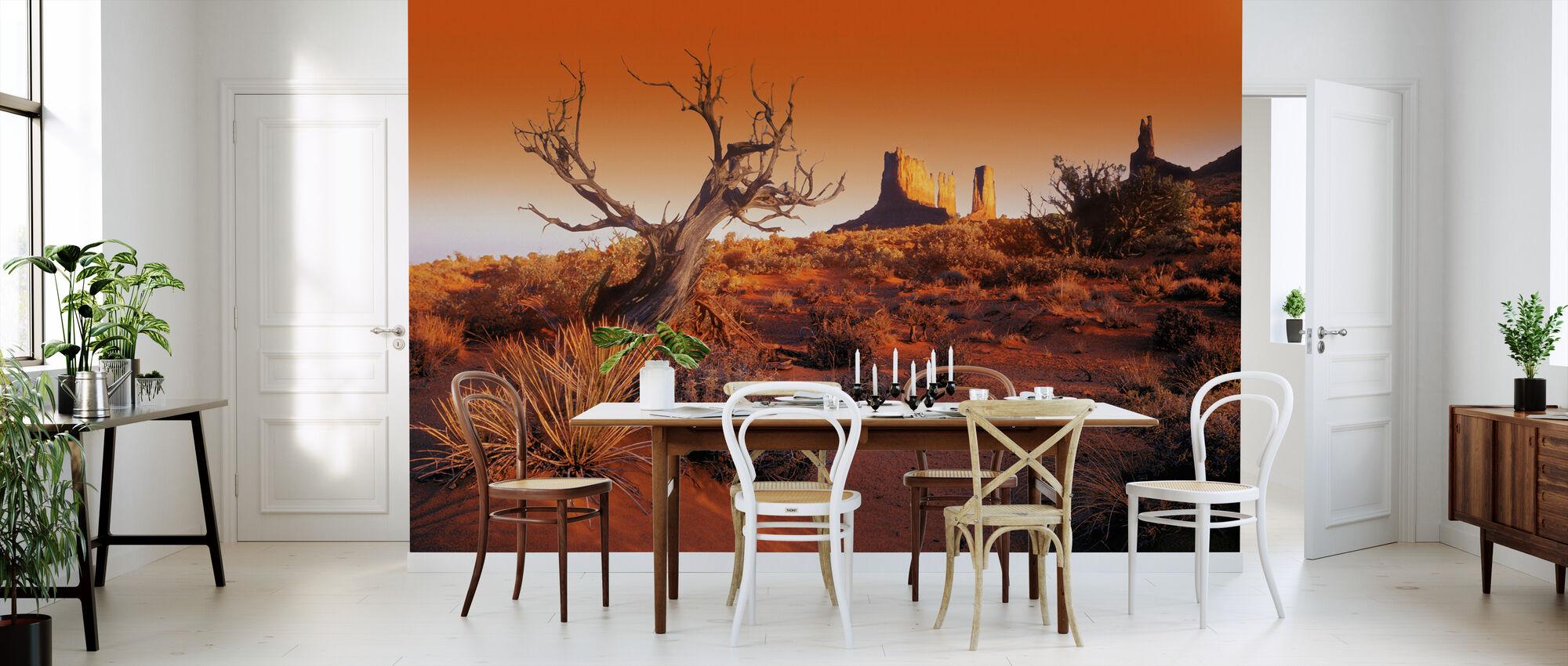 Rødt landskap - Tapet - Kjøkken