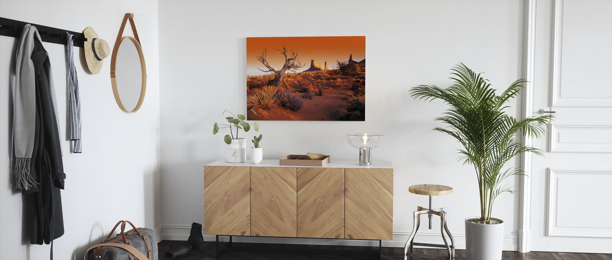 Red Landscape - Canvas print - Hallway