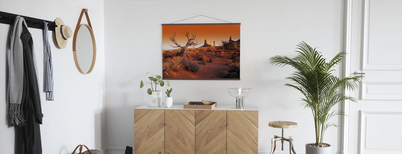 Red Landscape - Poster - Hallway