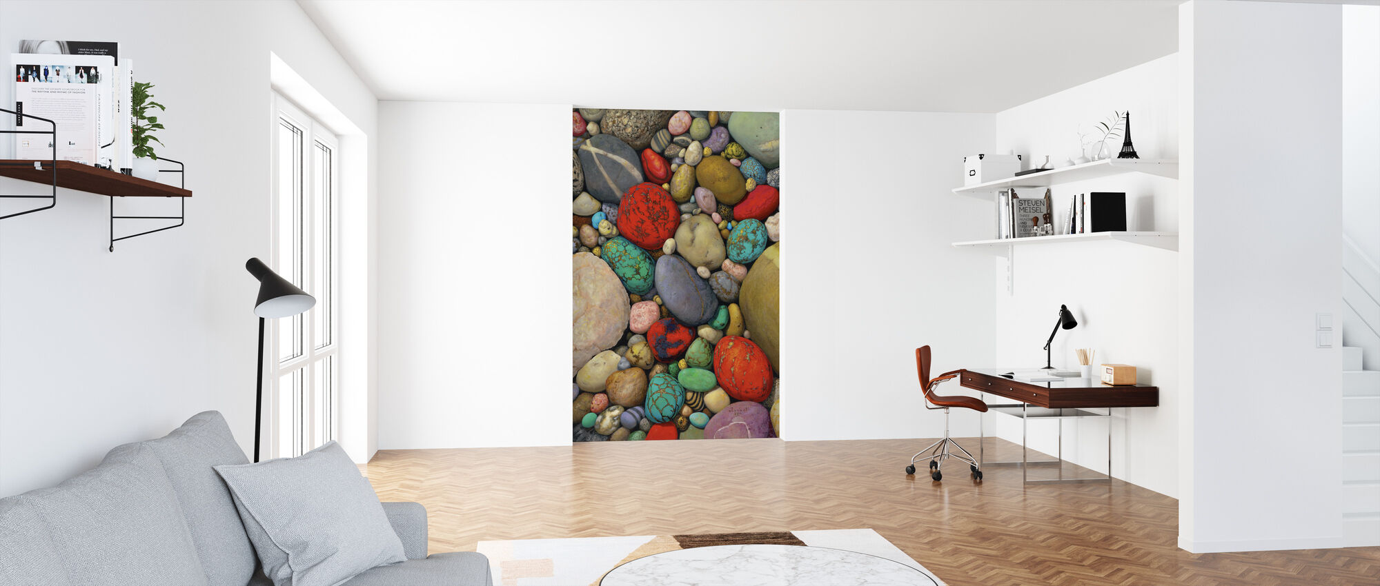 Multicolor Stones - Wallpaper - Office