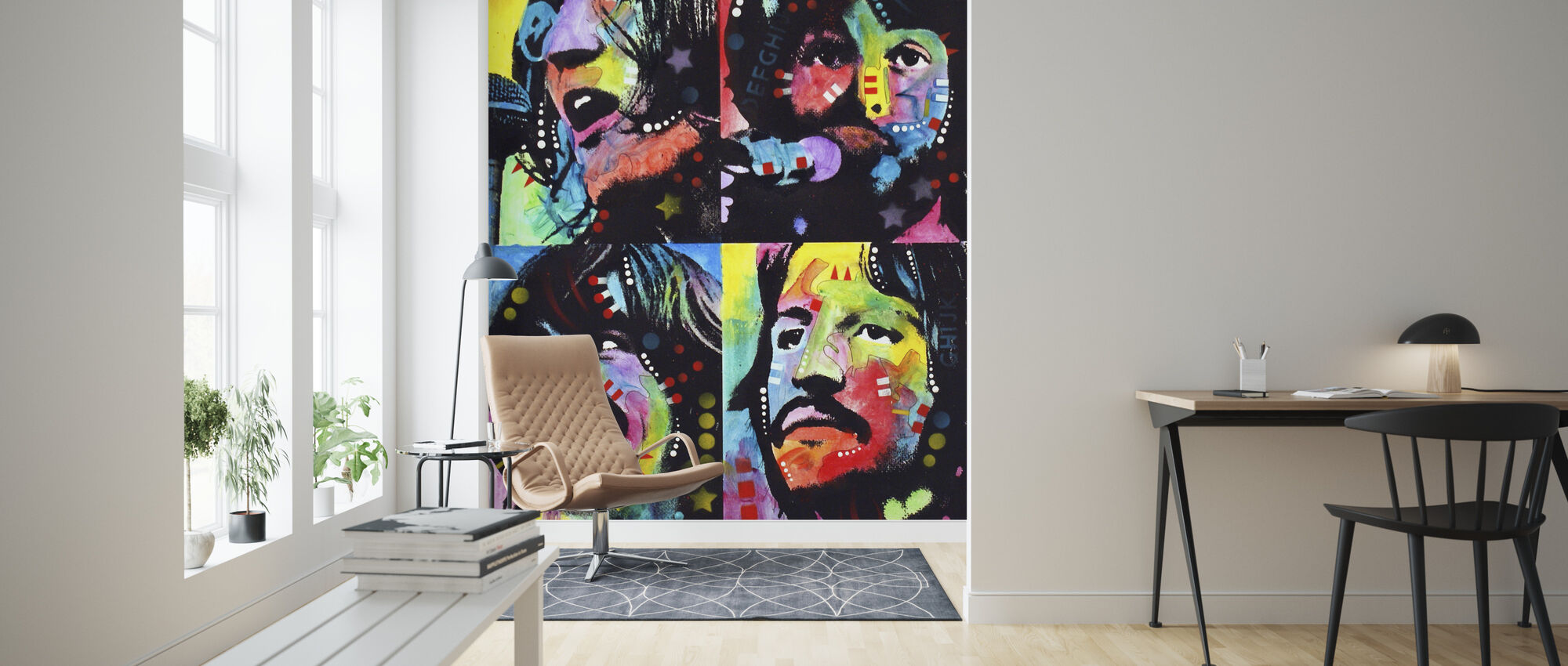 The Fab Four - Wallpaper - Living Room