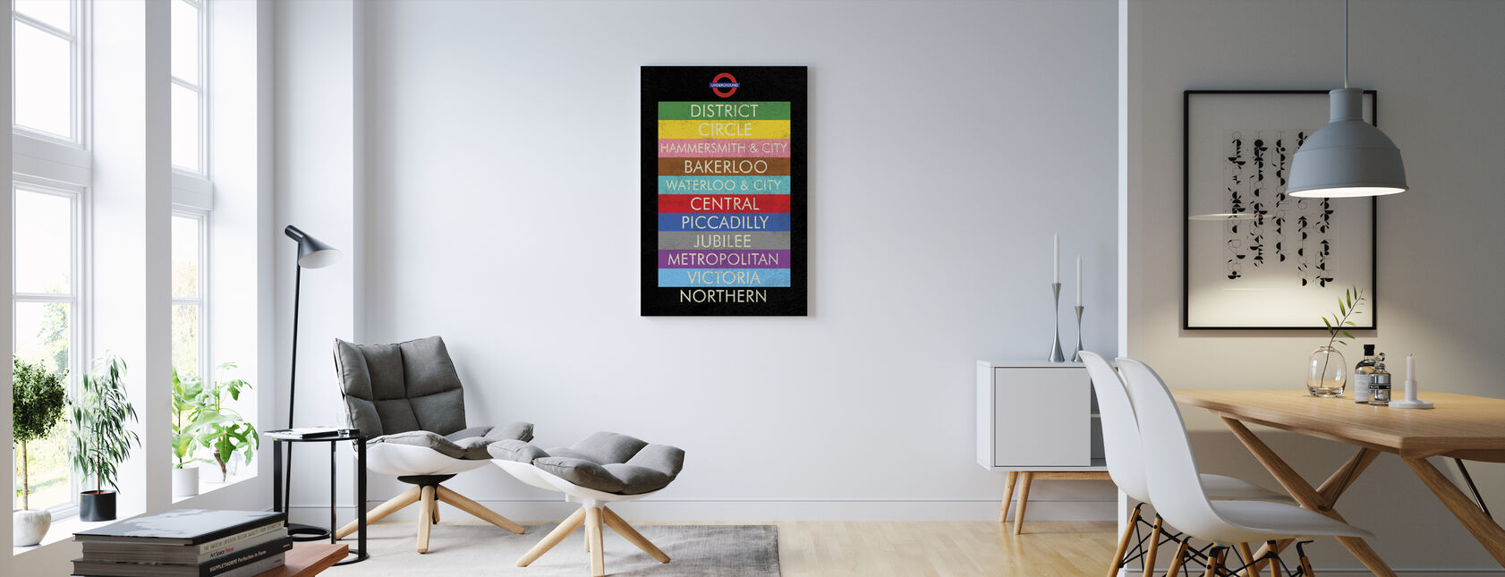 London Underground Sign - Canvas print - Living Room