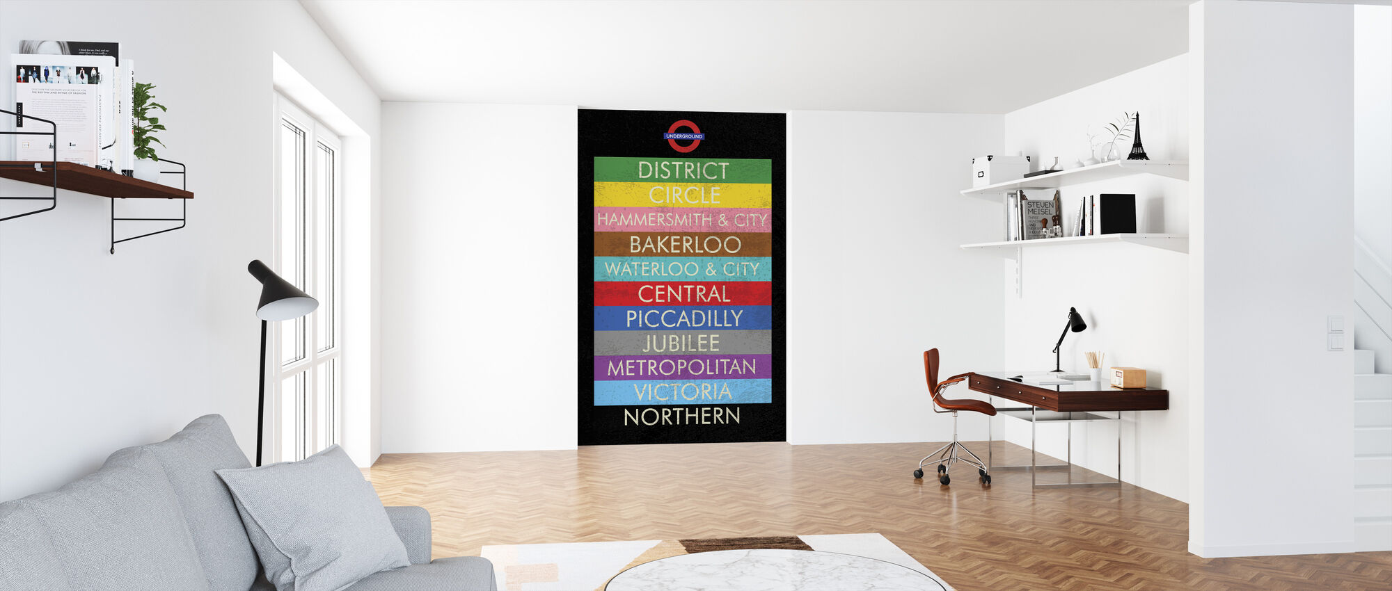 London Underground Sign - Wallpaper - Office