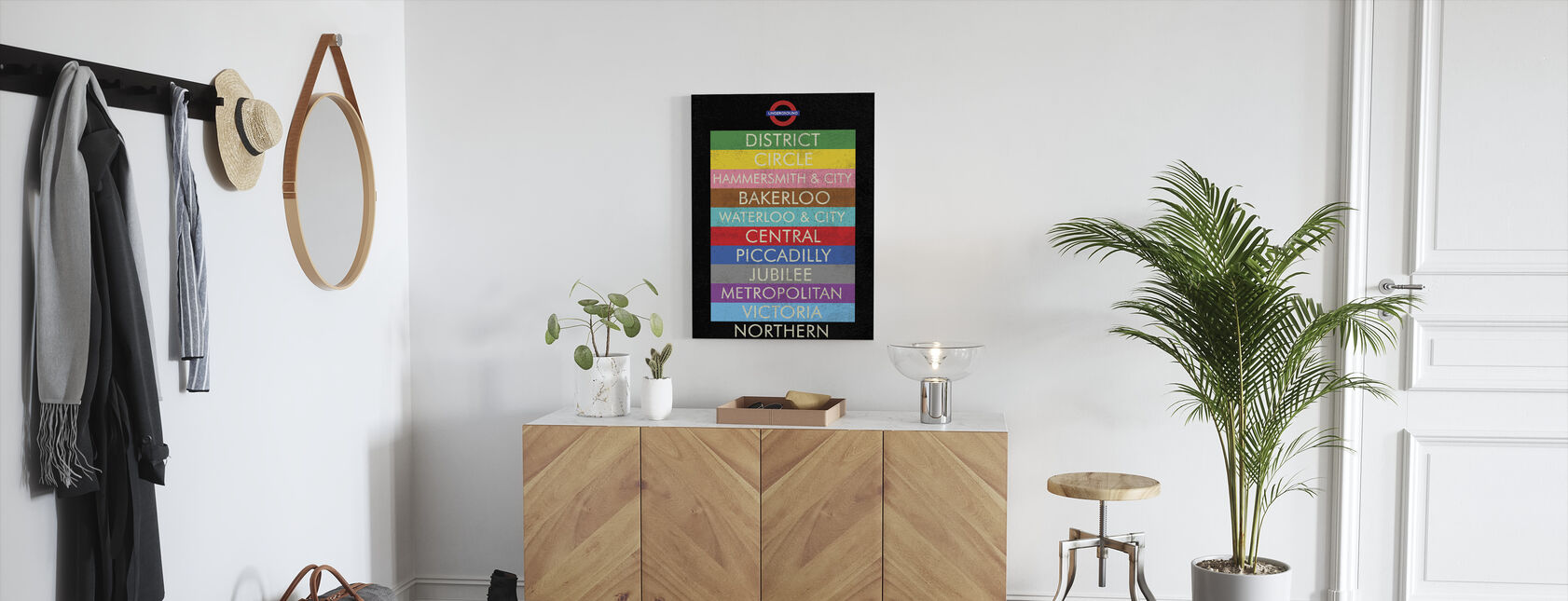 London Underground Sign - Canvas print - Hallway