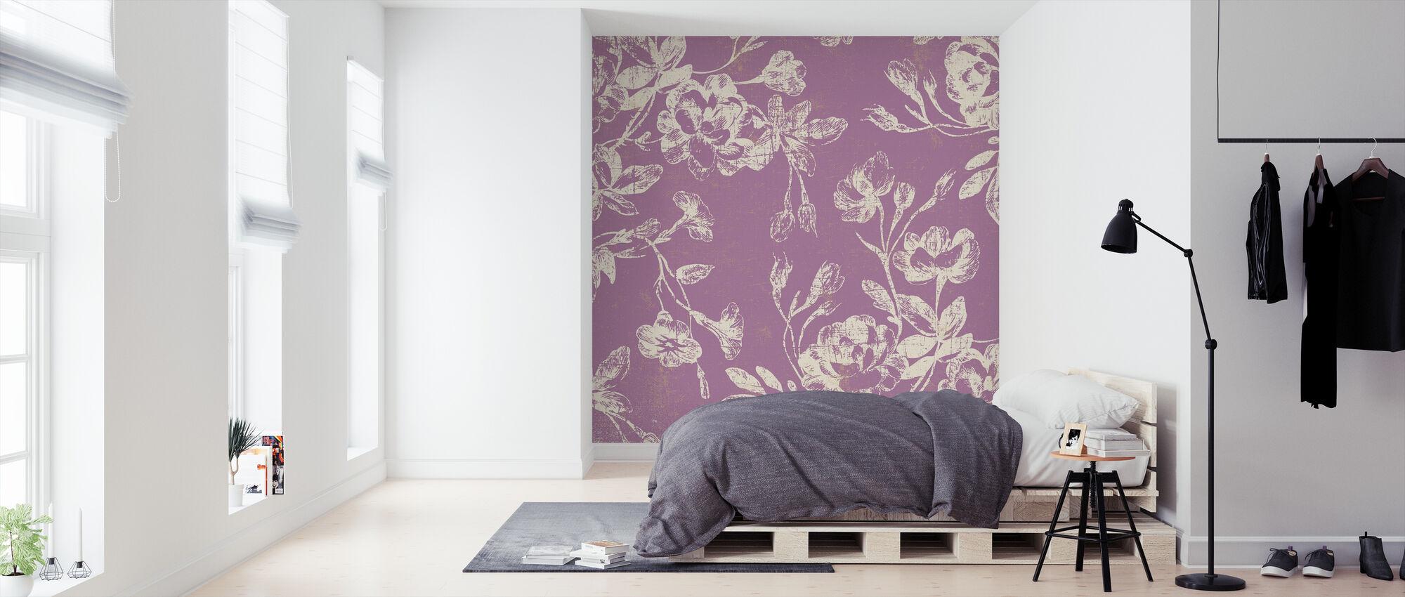 Pink Flowers - Wallpaper - Bedroom