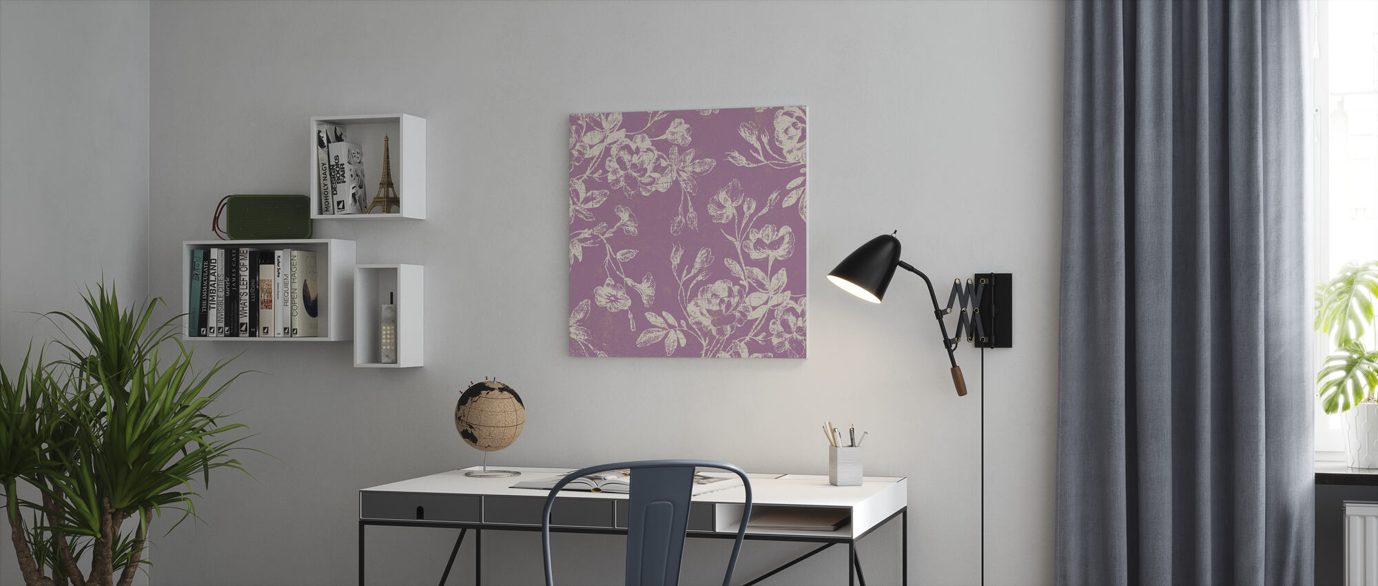 Pink Flowers - Canvas print - Office