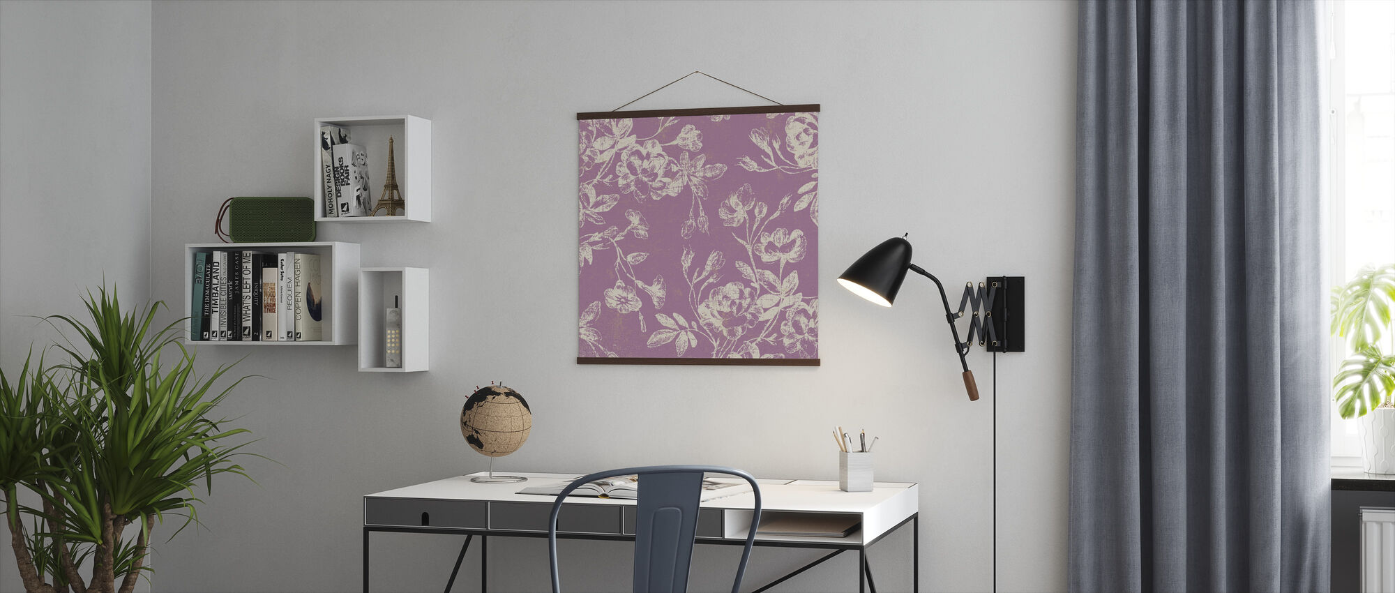 Pink Flowers - Poster - Office