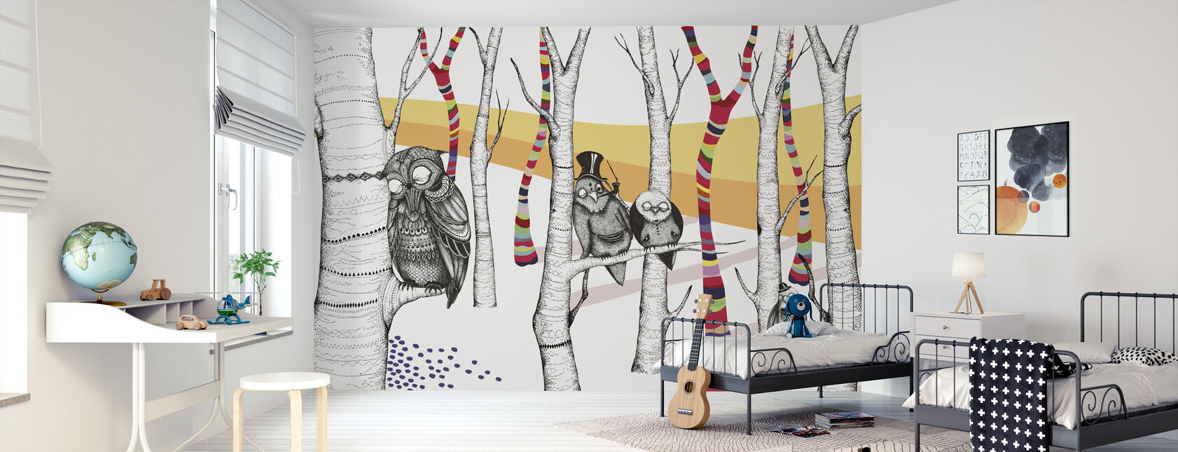 Hornstull Owls - Wallpaper - Kids Room