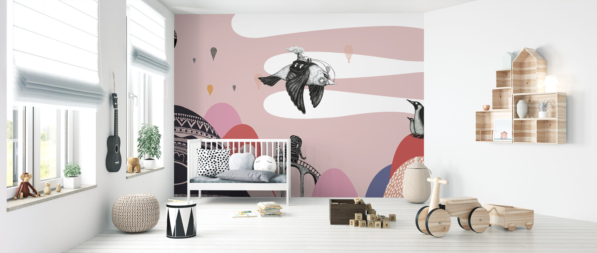 Hornstull Bird - Wallpaper - Nursery