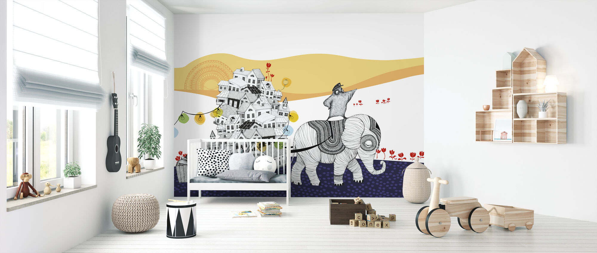 Hornstull Elephant - Wallpaper - Nursery