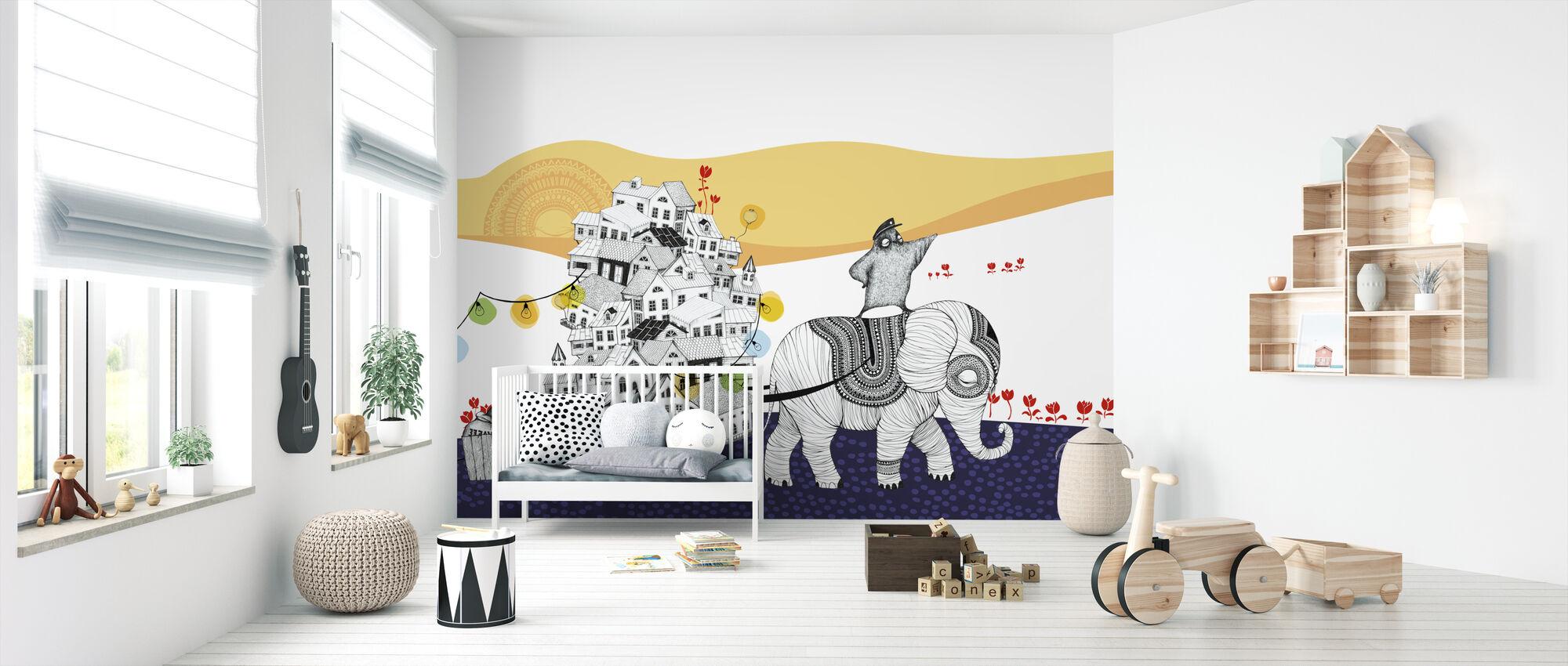 Hornstull norsu - Tapetti - Vauvan huone