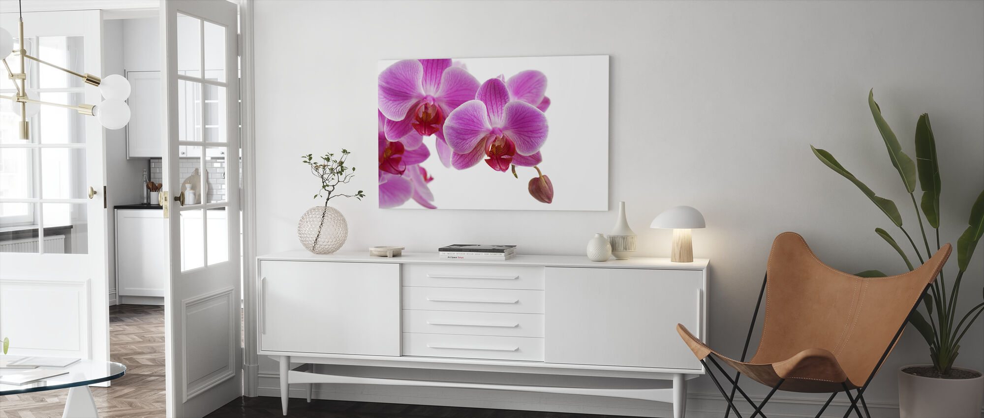Deep Pink Orchid - Canvas print - Living Room