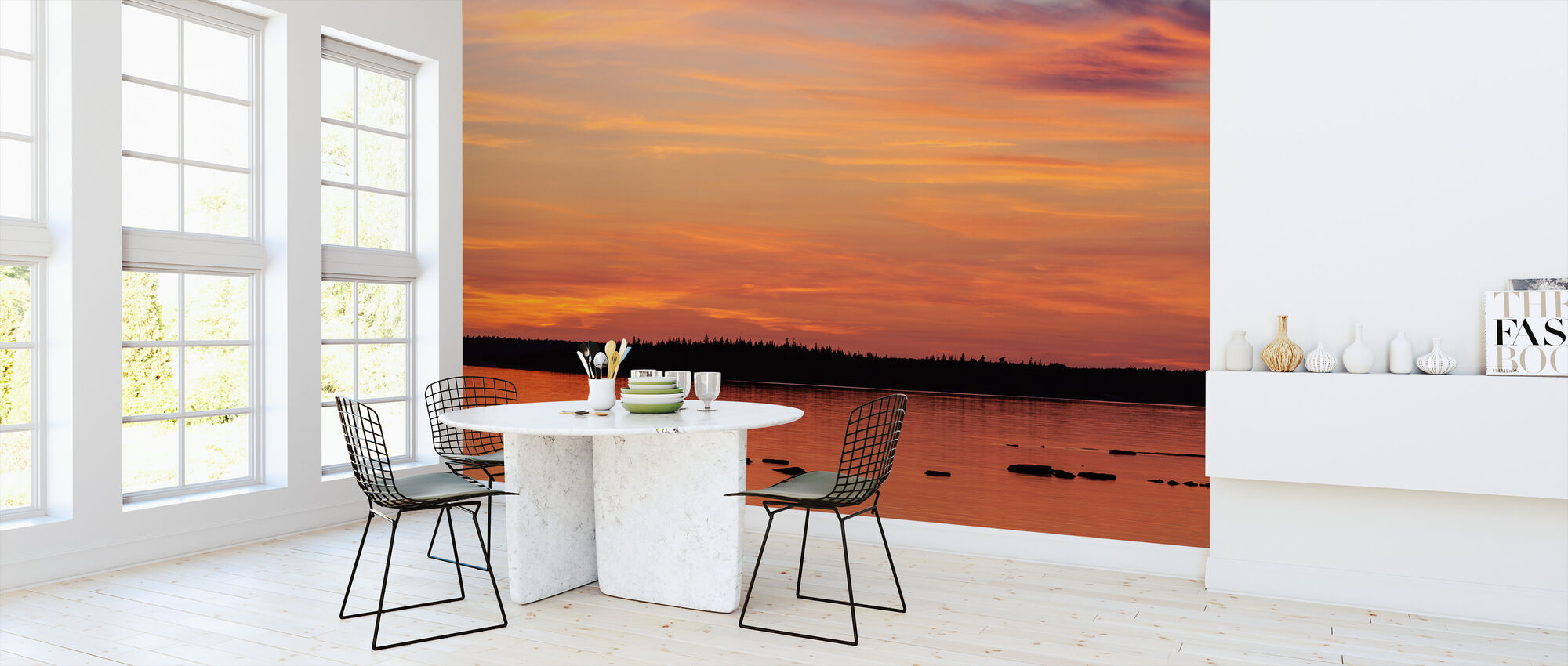 Sunset, Gotland - Wallpaper - Kitchen