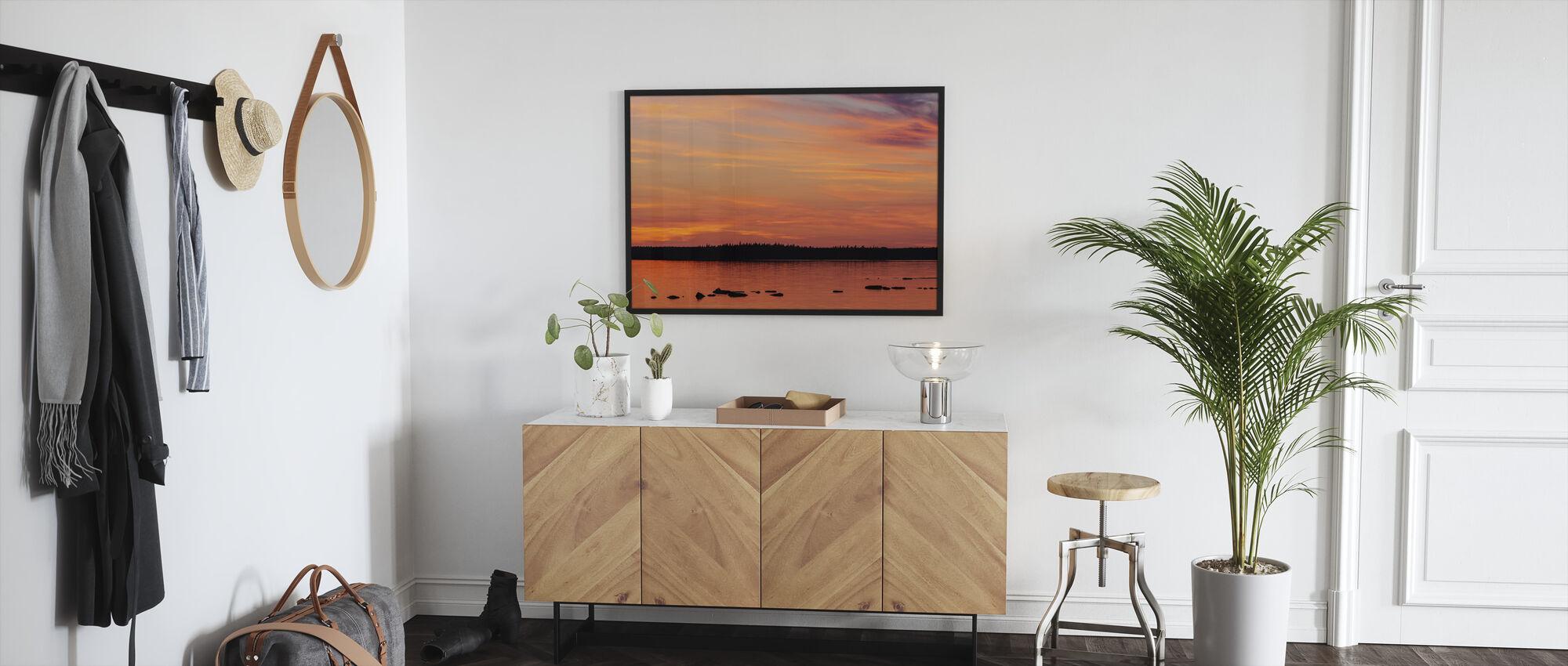 Sunset, Gotland - Framed print - Hallway