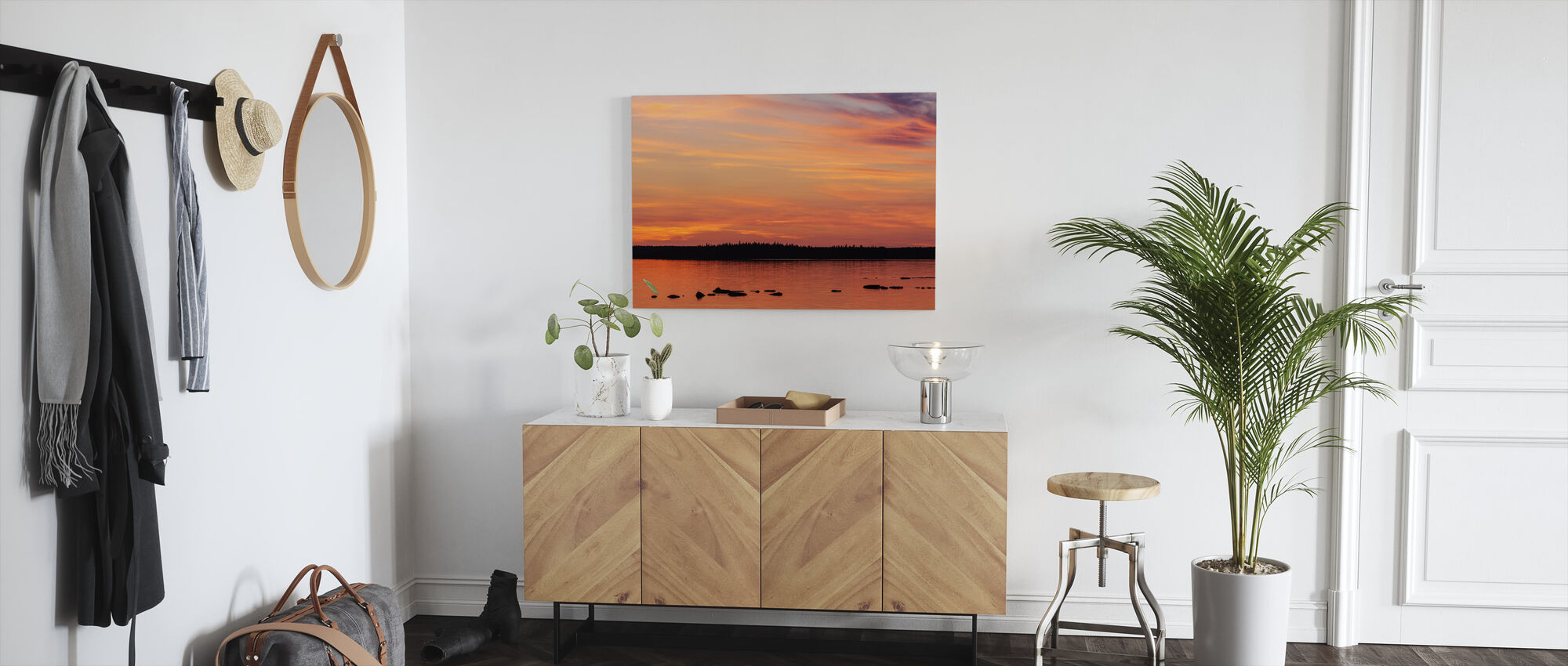 Sunset, Gotland - Canvas print - Hallway