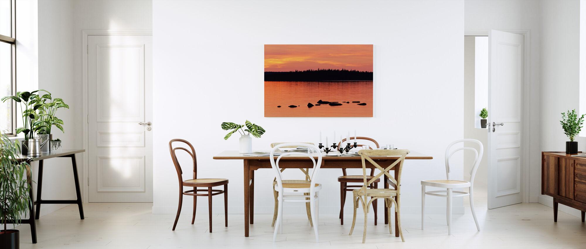 Sundown, Gotland - Canvas print - Kitchen