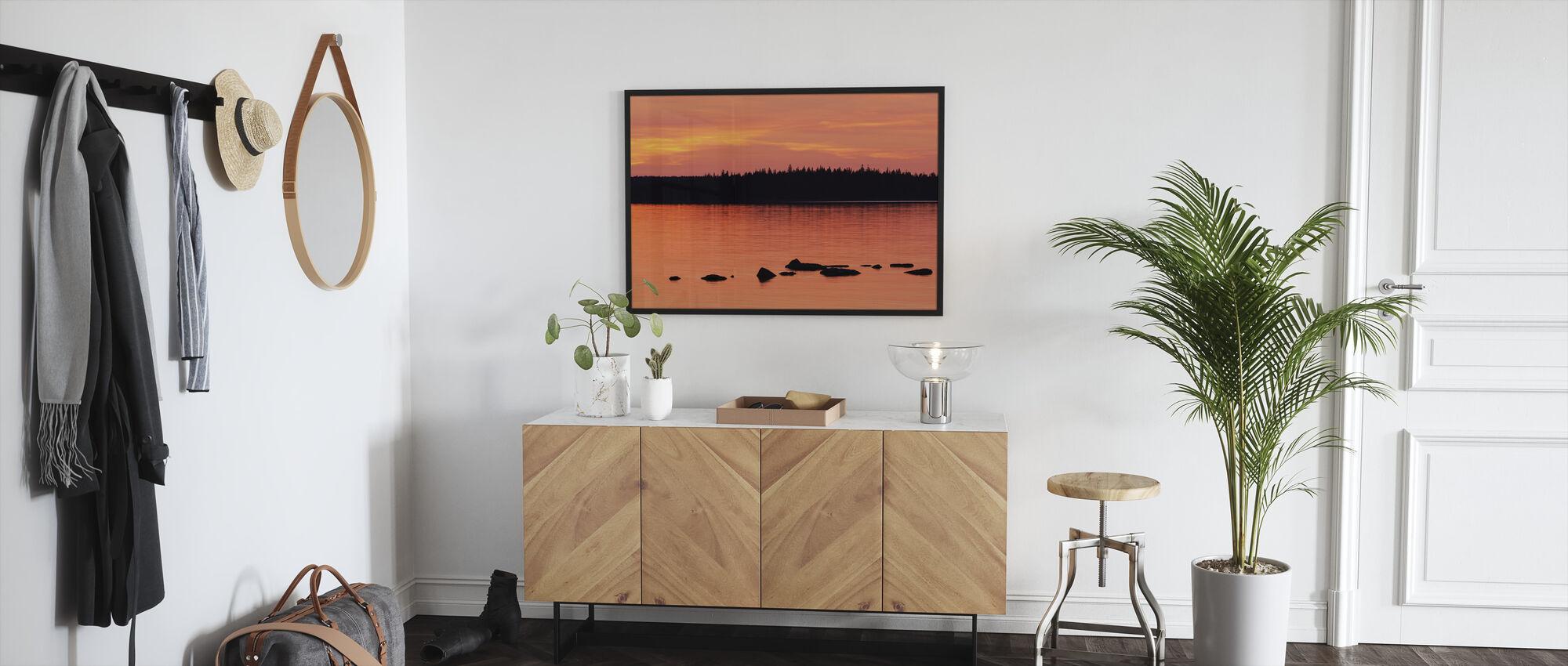 Sundown, Gotland - Framed print - Hallway