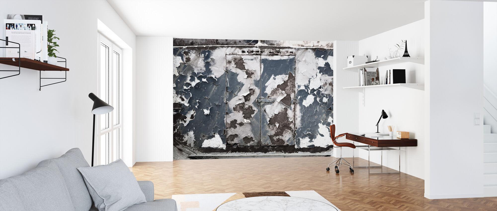 Rusty Old Door - Wallpaper - Office