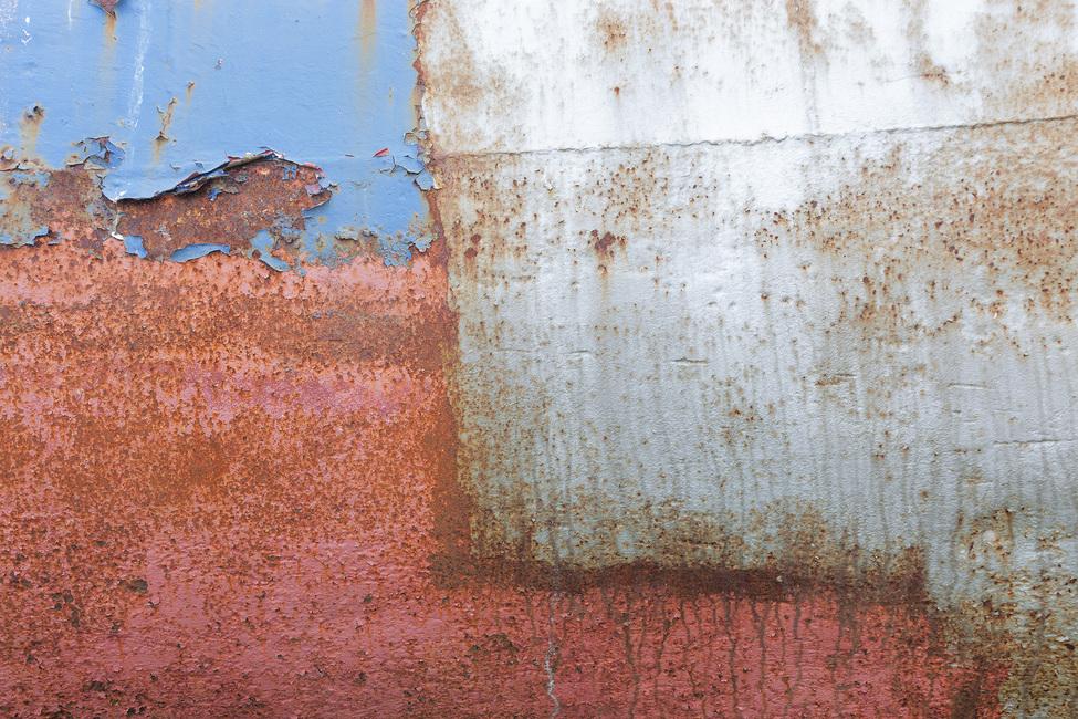 Rusty Metal Wall Fototapeter & Tapeter 100 x 100 cm