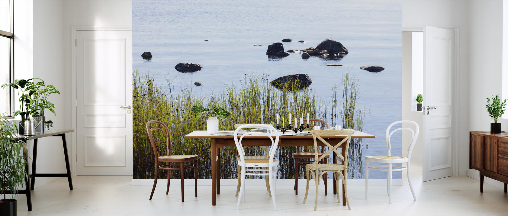 stones in water gotland fototapete nach ma photowall. Black Bedroom Furniture Sets. Home Design Ideas