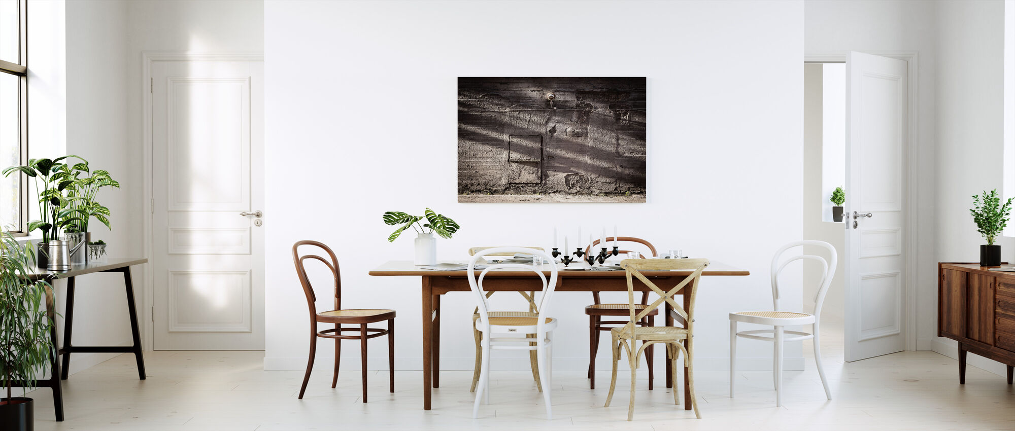 Concrete Wall with Shadows - Canvas print - Kitchen